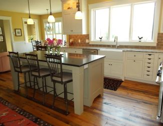 warm new england kitchen design