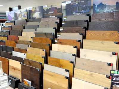 flooring display at country home center