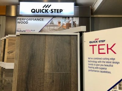 quick step tek flooring display